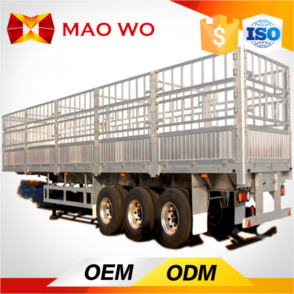 High quality 3 axle gooseneck fence cargo transport Stake Semi Trailer