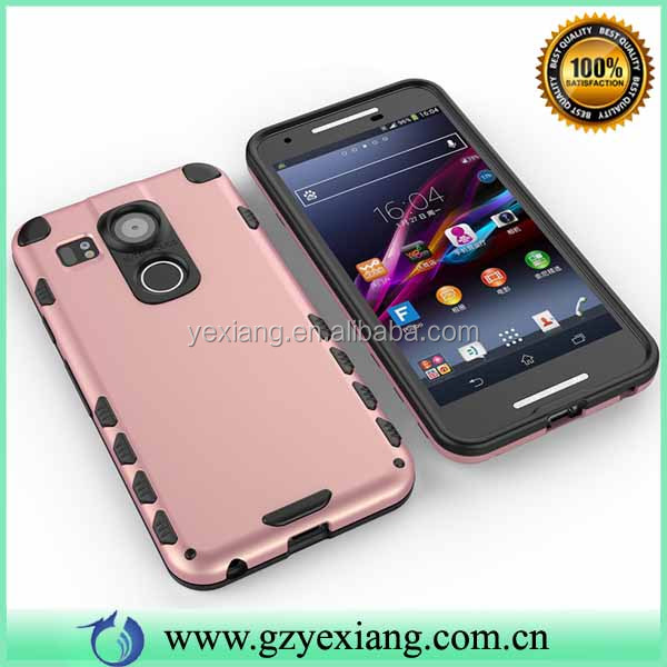 TPU PC Hybrid Silicone Lighter Phone Case For LG Nexus 5 Back Cover