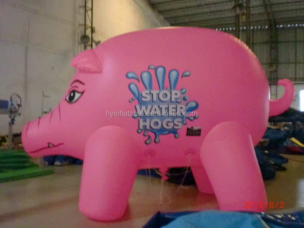 Lovely inflatable pig balloons,inflatable pink pig replica air ballon for adverting