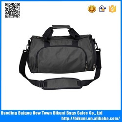 Fashion sport duffle bag with shoe compartment custom gym bag for unisex