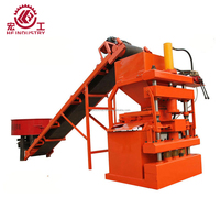 HF2-10 Automatic hydraulic compressed earth soil cement interlocking solid hollow brick block making machines price