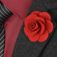 Men's Flower Lapel Pin Classical Brooch For Party Wedding