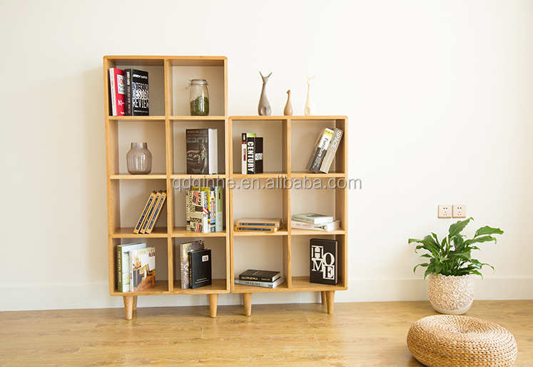 hot sale solid wood FAS oak book holder european style simple modern strong durable book shelf