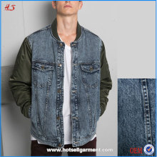 2015 Hot Selling Item New Arrival High Quality Fashion Man Nylon Sleeve Denim Jean Jacket