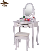 Elegant shape cheap dressing table with mirror