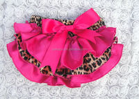 Hot pink satin baby bloomers