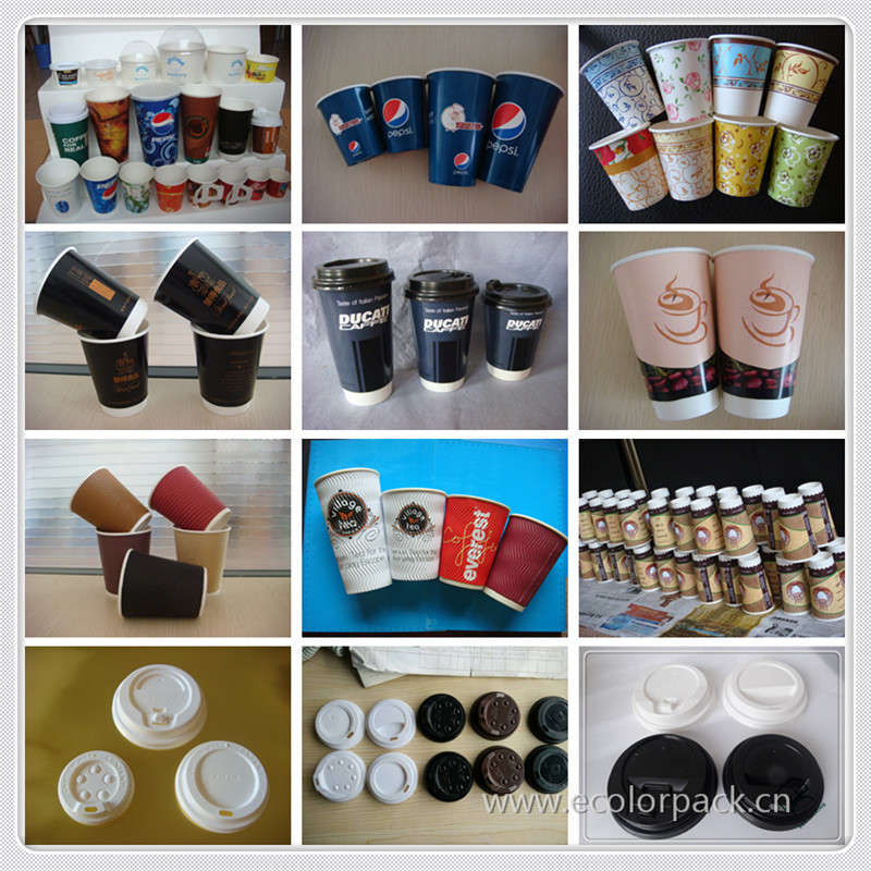 wholesale Custom Logo Disposable Plastic Cup with Lid