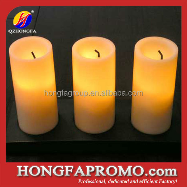 Home Decoration OEM Yellow Led Flameless Candle