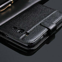 New arrival best price stand genuine leather flip case for samsung galaxy grand duos i9082 i908 with card slots,lichee pattern