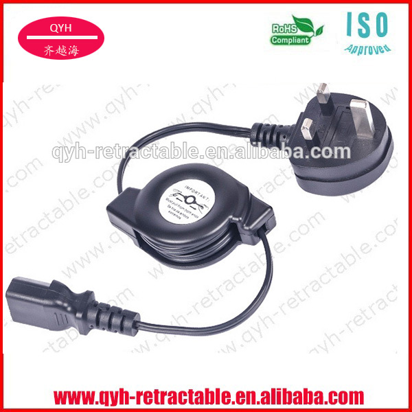long lasting small automatic AC double retractable power cable reel for electronics at factory favorable price