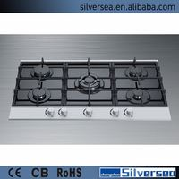 2014 high quality factory 3 burner gas stove glass top