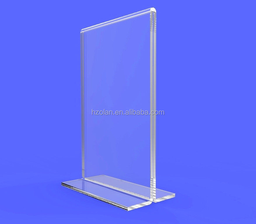 L Shape A3 A4 A5 A6 Size Acrylic Sign Holder Label Holders