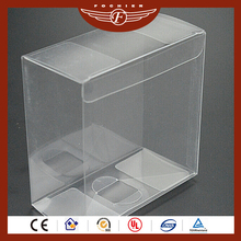 Custom wholesale PVC plastic sheet clear transparent gift box for lipstick
