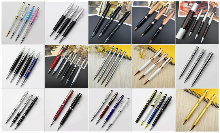 2016 top quality made in China cheap office stick crystal plastic ball pen