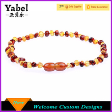 Latest Design Beads Necklace Baltic Amber Teething Necklace For Babies
