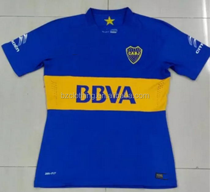 2016 Boca Juniors Best Thailand Quality Home Soccer Jerseys