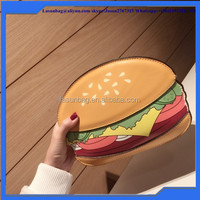 2016 New 3D Hamburger Design Girls Small Leather Shoulder Bags Factory Sale