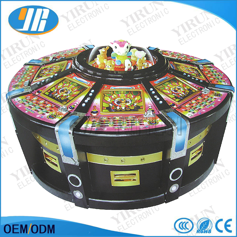 Factory price 37/38/39 numbers roulette machine with high quality PCB board delux 12 seats electronic roulette machine