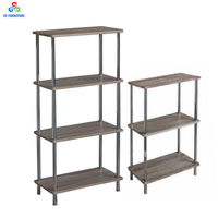 Customized tiers metal wooden shelves racks storage shelving units wholesale