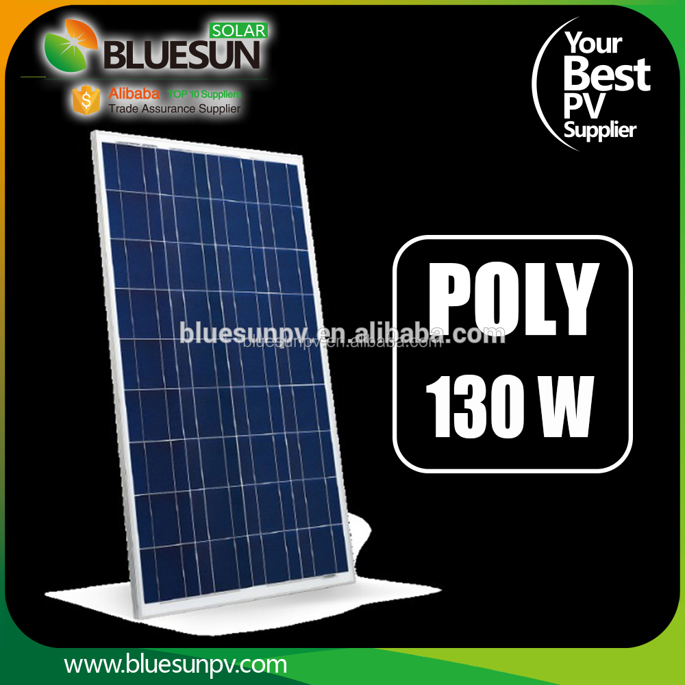 Mono and Poly poly solar panel 12v 130w les panneaux solaires