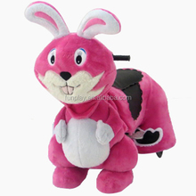 HI Rabbit indoor battery operated plush electrical animal toy car
