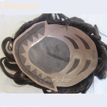 100% remy human hair stock units , natural hairline base toupees , oscar base toupee