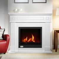 Wooden real flame fireplace bioethanol fuel