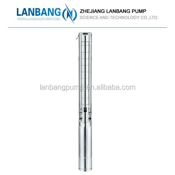 "4SP 4"" Stainless Steel Centrifugal Submersible Pump For Deep Well"