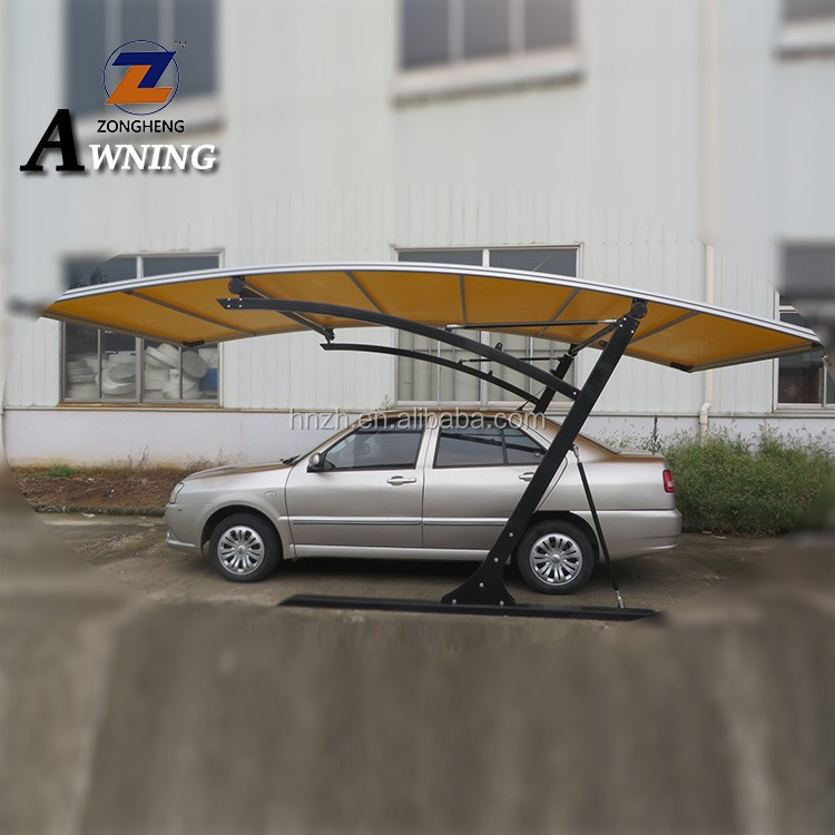 2018 high quality modern design polycarbonate aluminum 1 car steel carport