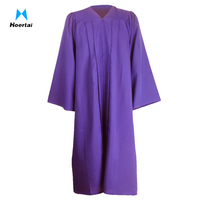 Customize 100% Polyester Purple Preschool Graduation Gowns