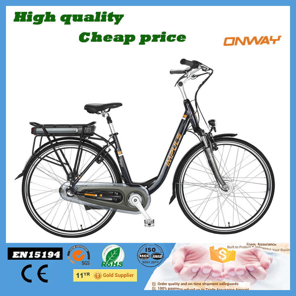 700C City Women Electric Bike With Suspension Fork