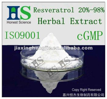 Herbal extract Resveratrol 20%-98%