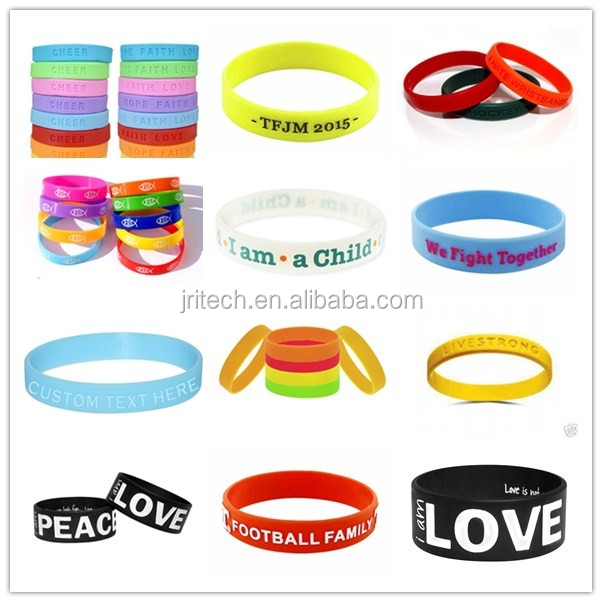 promotion give away gift silicone bracelet, silicone wristband, silicone band