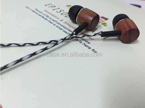 Custom Design Wood Earphone Bamboo In ear