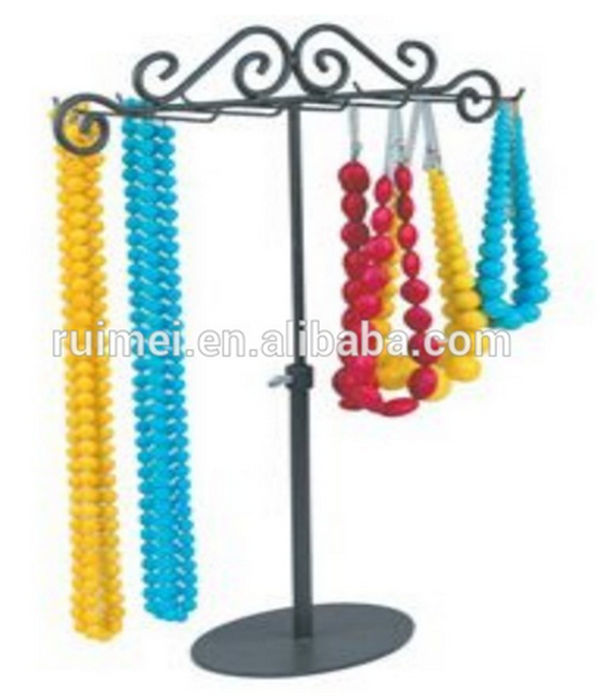 T-shape Counter-top High Quality Metal Necklace Stand