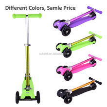 Christmas gift for kids oxelo aluminum T bar 4 flash wheel kick n go scooter
