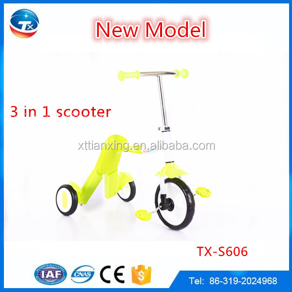 Top Selling Good Quality baby kick three wheels kids scooter with seat/child scooter toys for kids