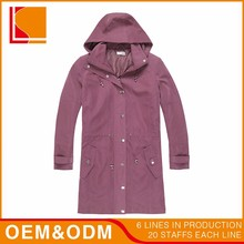 Wholesale 8% Nylon Winter Long Outdoor Woman Trench Coat , Windbreaker Jacket Custom