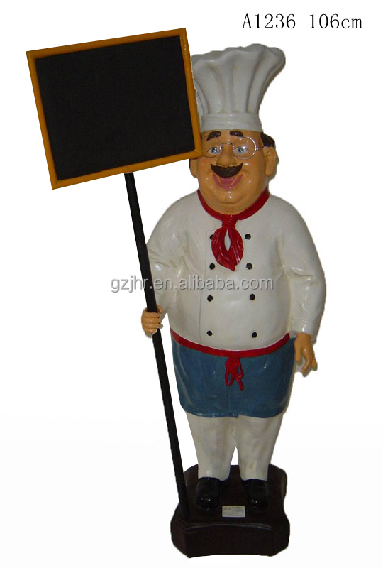 Resin Chef holds Menu Board