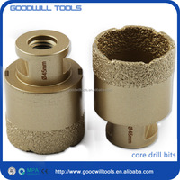 Hot sale threaded shank diamond core drill bits Customized