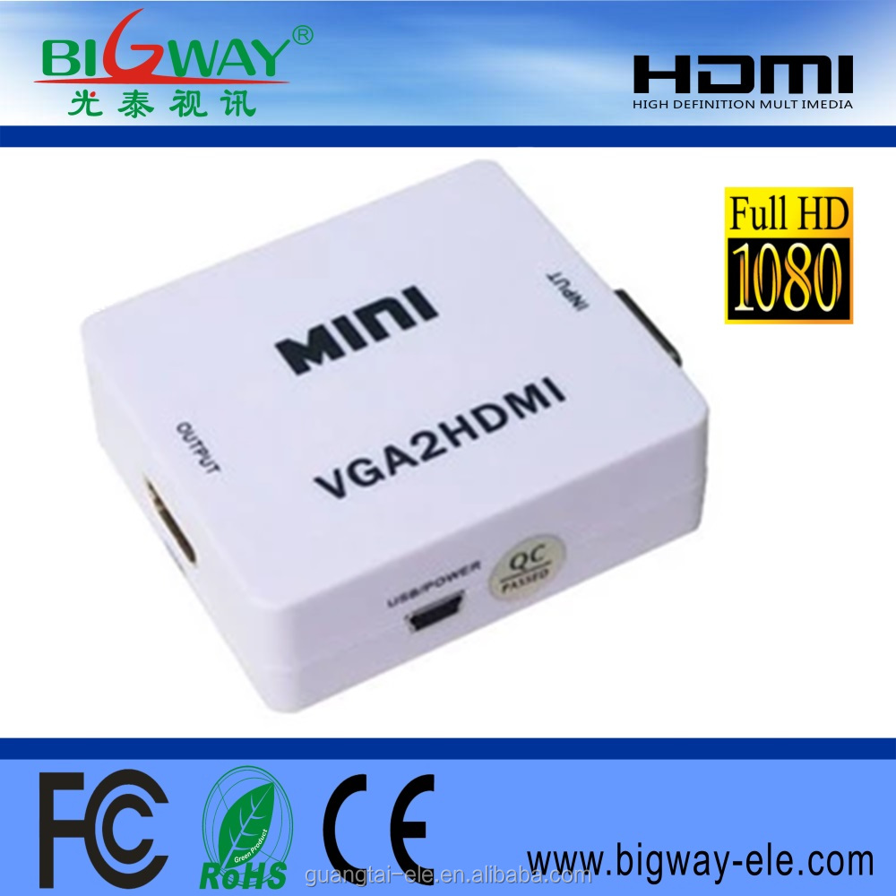 2017 hot sale Wholesale <strong>1080P</strong> resolution vga male to hdmi female hdmi to vga converter for hdmi to vga converter cable