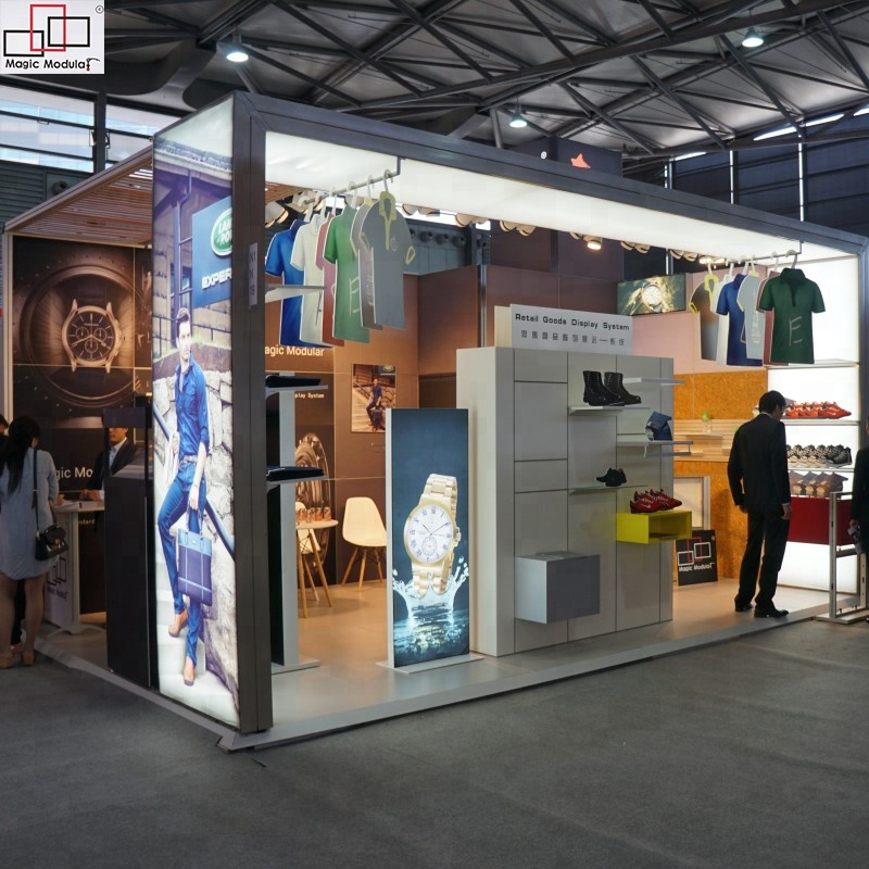 Exhibition Stand Clothes : Aluminum custom modular clothing stand 6x6 booth exhibition display