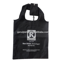 Factory direct Die cut handle folding style promotional polyester shopping bag
