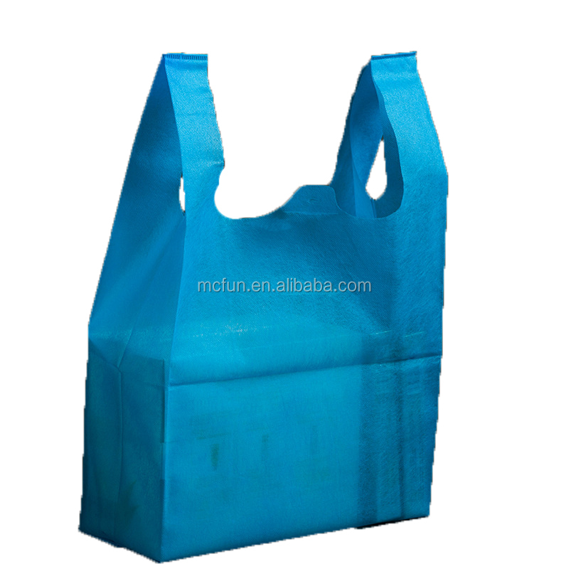 wholesale T-shirt non woven fabric carrier shopping bag