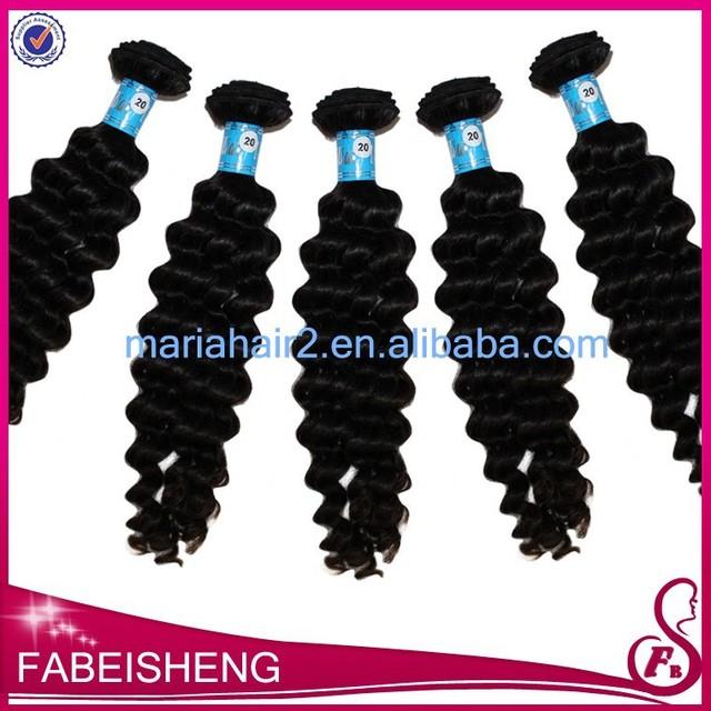 Virgin peruvian hair weaving deep wave brazilian ocean wave hair weft