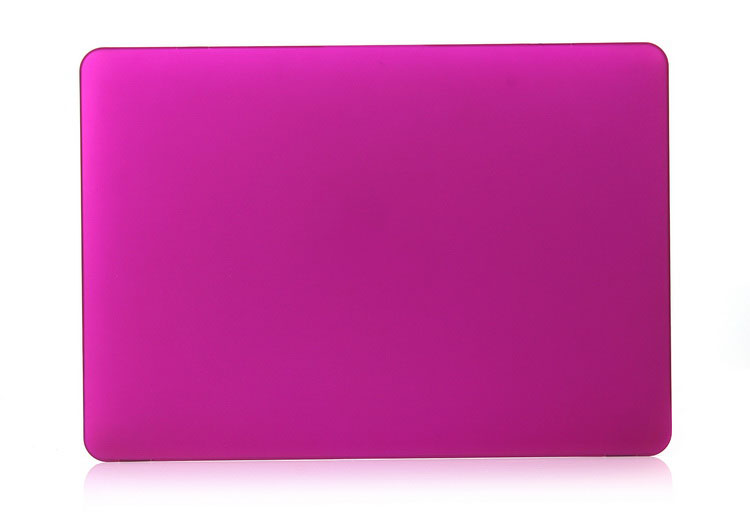 Rubberized matte hard pc shell laptop cover for Macbook Pro case 13 inch, deep purple color
