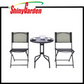 Outdoor Patio Furniture 3 PCS Bistro Set Backyard Garden Folding Table Chairs Set