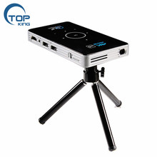 Top-king 2018 NEW productor C6 Mini Portable <strong>Projector</strong> for 2G 16G Amlogic S905 4K Android 5.1
