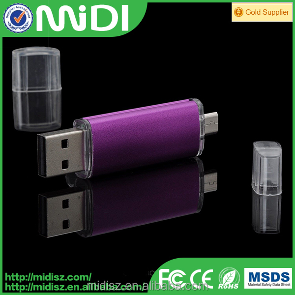 Low cost colorful promotion gift otg usb pen drive with custom logo printing,real capacity 1G-64G