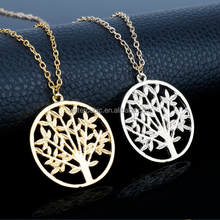HIP Hop Gold Color Hollow Tree Of Life Wisdom Tree Memory Locket Nordic Talisman Antique Vintage Pendants Necklaces Jewelry